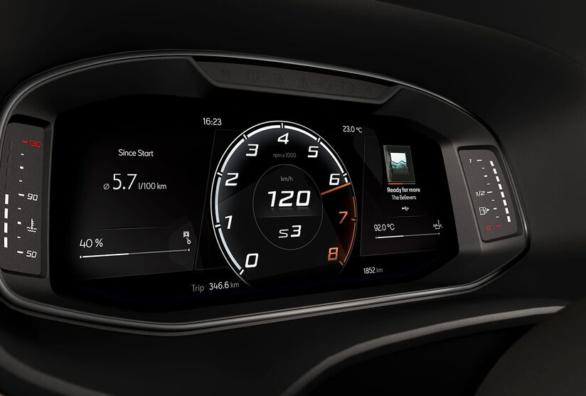 Sportview am Digital Cockpit des CUPRA Ateca